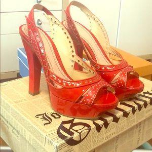 John Galliano patent leather heels